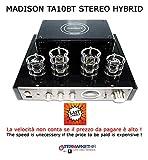 MADISON MAD-TA10BT, Amplificatore stereo valvolare,50 Watt RMS, HiFi USB & Bluetooth