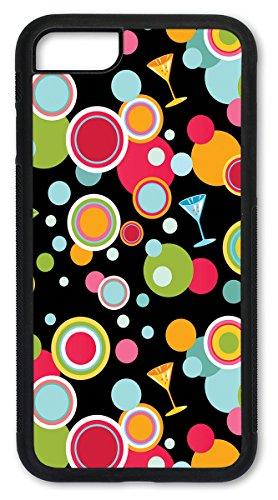 iPhone 7 Plus Hülle, iPhone 8 Plus Hülle, Slim Fit Shell Hartplastik Full Protective Cover Case Apple iPhone 7 Plus/iPhone 8 Plus - Martini Polka Dots Martini Dot