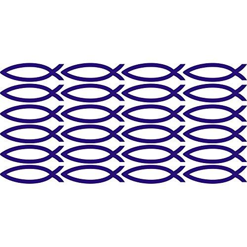 Abstract lovely fancy set di forme pesce signs simboli (30cm x 60cm) Scegli il colore 18colori in magazzino bagno, camera dei bambini, stanza dei bambini Adesivi, vinile auto, Windows e adesivo parete, Windows Art, decalcomanie, Ornamento vinile ThatVinylPlace, Sapphire Blue, 60 x 30 cm - Sapphire Pesce