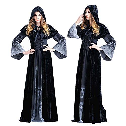 Crazy Sell Damen Schwarz Witch Weihnachten Party Kostüm Fancy Anime Cosplay Party Kleider (Fancy Dress Kostüme Zombie Braut Engel)