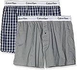 Calvin Klein Herren Boxershorts Boxer Slim 2PK, Blau (Stain Plaid Placid H/WuXi 2 H Grey Gba), X-Large