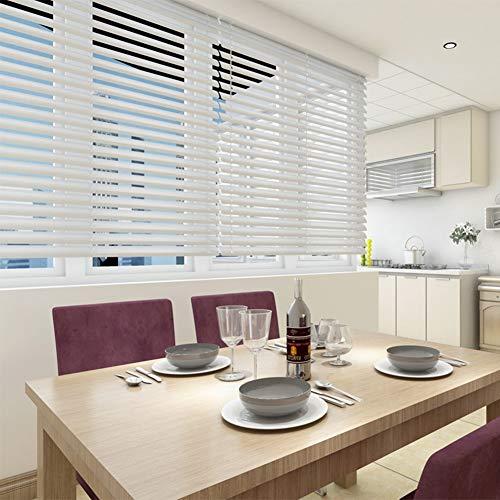 Jalousien Küche Weiße Zugschnur, Aluminium Büro, Bad, Schlafzimmer, Wohnzimmer, 100cm / 120cm / 130cm Breite (Size : 100x200cm(39