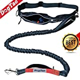 DogTao • Hands-Free Running Dog Lead - ANTI-SHOCK Walking Belt for Small and Big Dogs - Reflective Hand Leash with Strong and Extendable Bungee