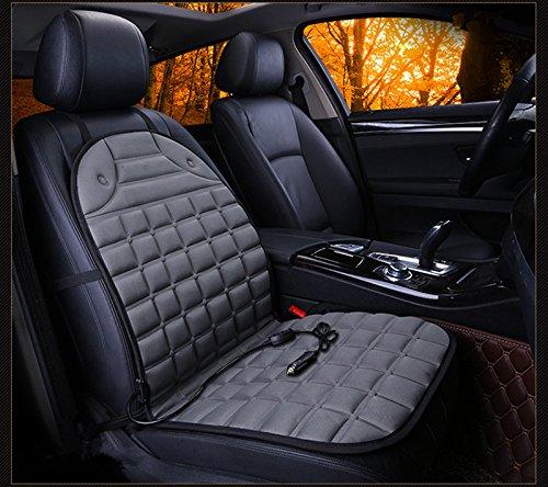 Preisvergleich Produktbild HCMAX Auto Beheizter Sitzbezug Kissen 12V Heizwärmer Pad Heiß Abdeckung Kalt Winter mit 3-Wege-Temperaturregler