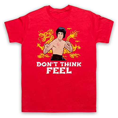 Bruce Lee Don't Think Feel Herren T-Shirt Rot
