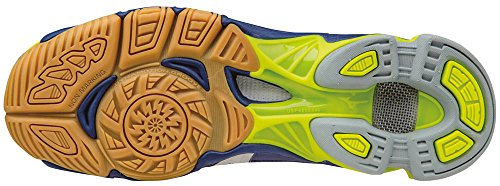 Mizuno Wave Bolt, Scarpe da Pallavolo Uomo Blu (Twilightblue/White/Safetyyellow)