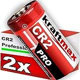 kraftmax 2er Pack CR2 Lithium Hochleistungs- Batterie für professionelle Anwendungen Generation
