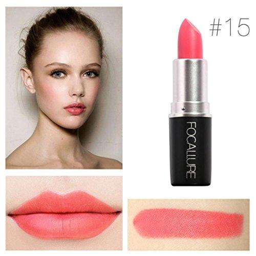 Yogogo - Rouge à lèvres - Nouveau Cosmétiques Mode Métallique pour maquillage beauté longue durée 15#