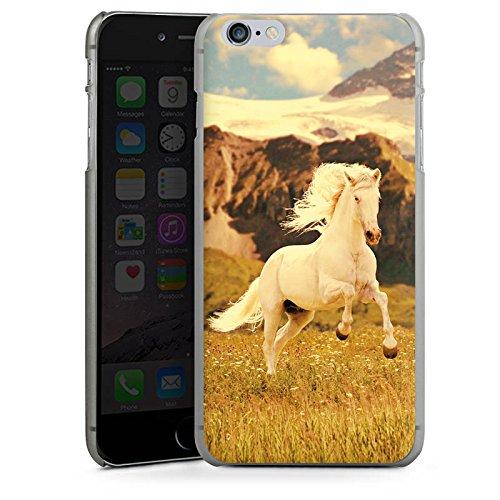 Apple iPhone X Silikon Hülle Case Schutzhülle Weißes Pferd Hengst Mustang Stute Hard Case anthrazit-klar