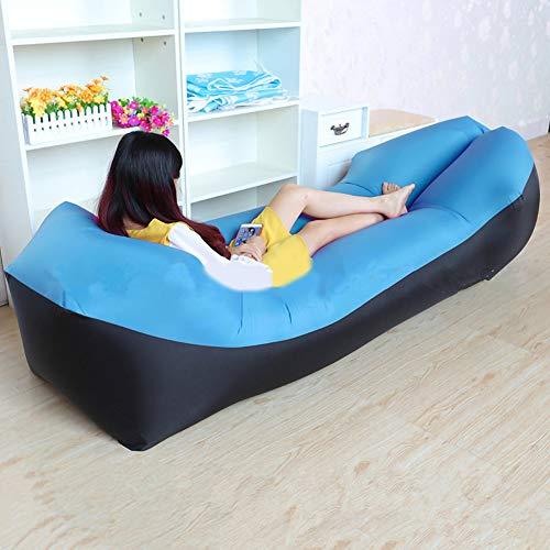 Vor Aufgeblasenen Luft (Leezo Outdoor tragbare faule Sofa aufblasbare Matratze Strand Schlafsack Wohnzimmer Camping Longue Schlafkissen, faltbare aufblasbare Bett, Kissen aufblasbare Sofa)