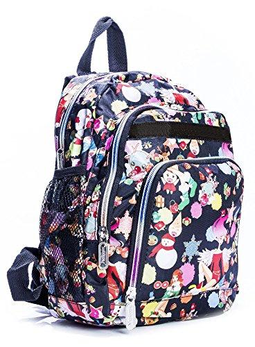 Big Handbag Shop Bambini Zip Tasche Cartoon Mini Zaino Leggero, multicolore (Winter Scene), Taglia unica