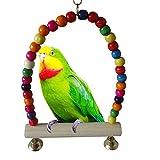 ETbotu Parrot Swing bar climbing Ladder appoggio in legno per benessere fisico & Psicologica del tuo pappagalli