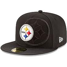 New Era Nfl Sideline 59Fifty Pitste Otc - Gorra Línea Pittsburgh Steelers para hombre, color negro, talla 6 7/8