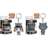 Funko Pocket Pop! Chessur Cat and Mad Hatter Keychain by POCKET POP