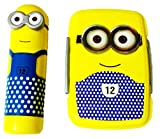 DS Minion Lunch Box with Pencil Box, Yellow & Blue