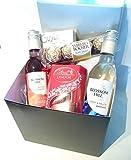 Luxury Chocolates & Wine Gift Box - Finest Lindt Lindor,...