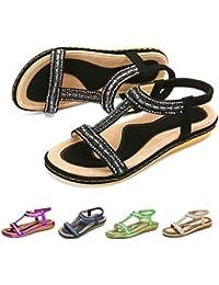 fe634ac7 Amazon.es: sandalias mujer planas - 3 estrellas y más: Zapatos y ...