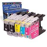 Premium 5er Set Druckerpatronen Kompatibel für Brother LC1280 XL für DCP-J525W J725DW MFCJ925DW MFC-J430W MFC-J5910DW MFC J625DW MFC J825DW MFC-J6910DW patronen (Schwarz , Cyan , Magenta , Gelb) 5xLC-1280-Brother