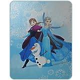Disney Frozen 043684 Enjoy Fleece Decke, Polyester, blau, 110 x 140 cm