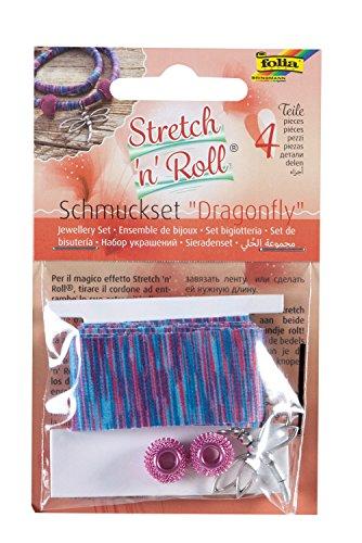 folia 93103 - Armbandbastelset Strech und Roll - Set Dragonfly, mehrfarbig