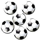 Kühlschrankmagnete Fußball Magnete für Magnettafel Kinder Stark 6er Set mit Motiv Fußbälle groß Rund 50mm Sport Fußballmotiv