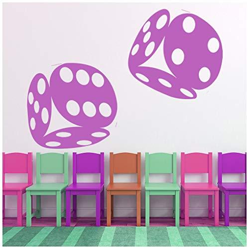 Azutura dadi rotolanti adesivo murale giochi da tavolo adesivo da parete casinò di gioco home decor disponibile in 5 dimensioni e 25 colori grande bianco