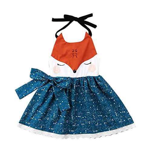 dchen Sommer Beach Party Kleid Halter Thema ärmelloses niedliches Outfit für Alter 1-6 Jahre alt ()