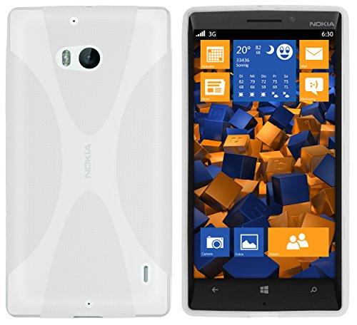 mumbi X-TPU Schutzhülle für Nokia Lumia 930 Hülle transparent weiss