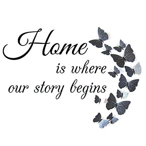 broadroot Butterfly Home Buchstaben 5D Diamant Rund Gemälde DIY Stickerei Mustertuch handgefertigt für Arts Crafts Wand Decor Home Zimmer Dekoration (Lotus Blume) (Runde Wand-buchstaben)