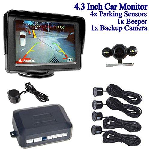 BW 10,92 cm LCD Color Monitor del coche para retrovisor + cámara de visión...