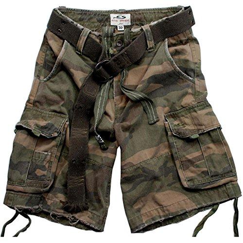 Cox Swain Vintage Cargo Shorts, Colour: Camo, Size: 30