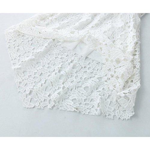Longra Robe irrégulière à encolure en laine féminine à encolure en laine féminine Blanc