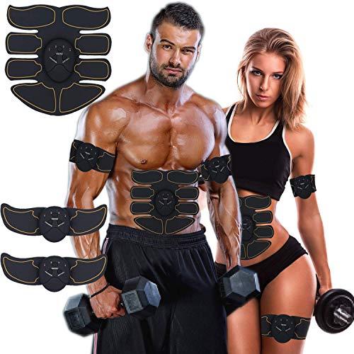 YiLVV Elettrostimolatore per Addominali, Electric Massager, Tonificante Cintura Addominale Muscle Toner Gambe...
