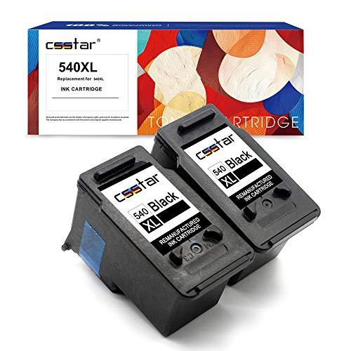 CSSTAR Rigenerate Cartucce d'inchiostro Compatibili per Canon 540 XL PG-540XL per Pixma MG4250 MG3550 MG3250 MX375 MX395 MX435 MX455 MX475 MX535 Stampante, 2 Pacco Nero