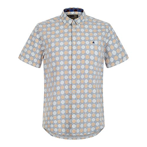 Merc of London Caspian, S/S Retro Geo Print Shirt, Chemise Casual Homme