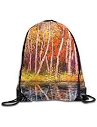 Fall Trees Along with Lake Fall In Jungle Natural Paradise Unisex Home Travel Outdoor Sports Storage