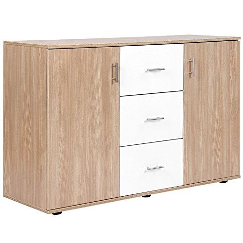 Miadomodo Comò cassettiera moderno spazioso con 2 ripiani ...