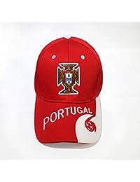 wei Los fanáticos del equipo nacional gorras de béisbol bordadas Gorras Cap Visor,Portugal,