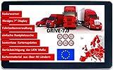 7 Zoll GPS Navi, Navigationssystem, Navigationsgerät, für LKW, PKW mit-Brueckenhoehenwarnung und TMC Verkehrsfunkempfänger. Rastplatzsuche, 24 V, über 50 Länder EU. Neuste Karten, Fahrspurassistent