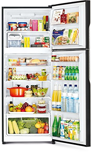Hitachi 451 L 2 Star Frost-Free Double Door Refrigerator (R-VG470PND3- (GBK), Glass Black)