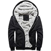 Chaqueta deportiva de borrego hombre invierno sudadera capucha con cremallera y bolsillos