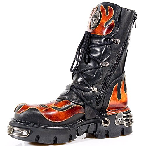 New Rock Boots Unisexe Botte - Style 107 S1 Rouge Rouge