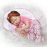 ECMQS 22 Inch (55 cm) Lebensechte Puppen Baby Mädchen, Qualität Reborn Puppe Komplett Silikon Vinyl Realistische Baby Puppe Handgemachtes Geburtstagsgeschenk