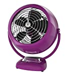 Vornado VFAN Vintage Whole Room Air Circulator, Retro-Look, Violet, incl. Adapter EU to UK