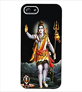 ColourCraft Lord Shiva Design Back Case Cover for APPLE IPHONE 5