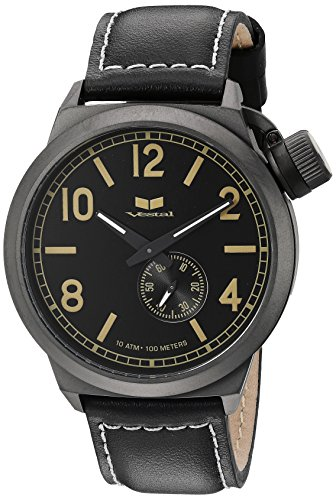 Vestal Men's CTN3L10 Canteen Analog Display Japanese Quartz Black Watch
