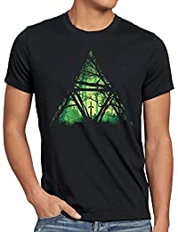 style3 Nature Triforce Herren T-Shirt link hyrule gamer