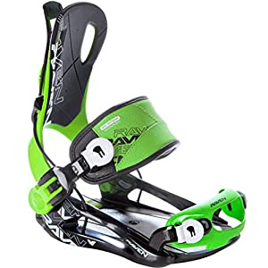RAVEN Snowboard Bindung Fastec FT270 Green