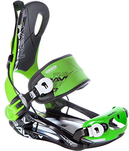 Snowboard Bindung Raven Fastec FT270 Green Größe: L