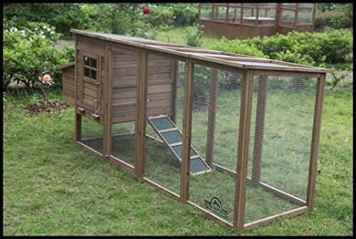 Pets Imperial® Blenheim Hühnerstall mit extra langen Auslaufflächen 8ft/2,5m und Maschendrahtabdeckung geeignet für 4/6 Vögel je nach Größe - 3
